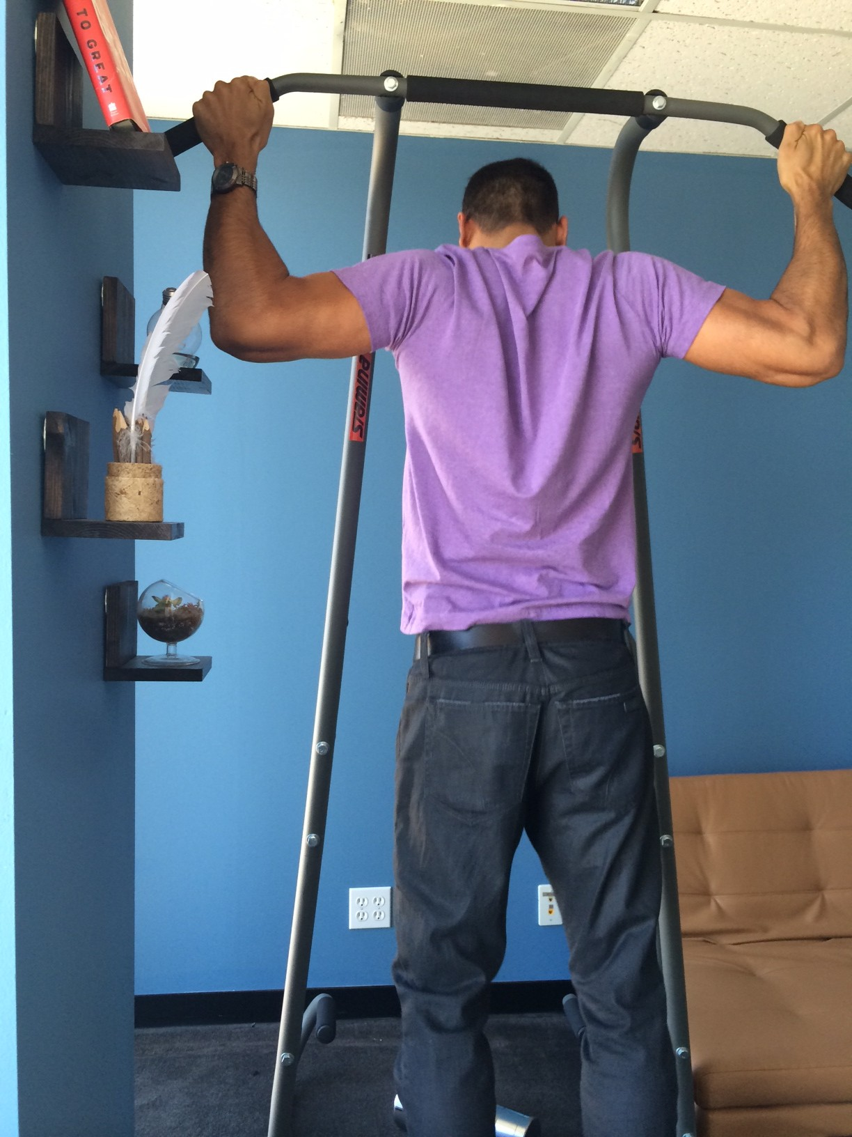 ... Pull Up Bar And Dip Station In Our Office. Alipullup