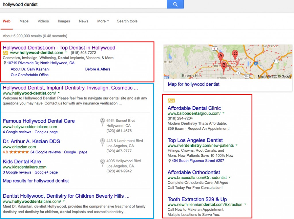 difference between ppc organic seo